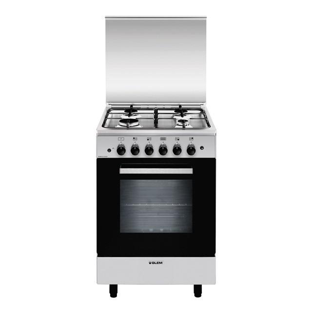 Glem Gas A554GI cucina Piano cottura Acciaio inossidabile A