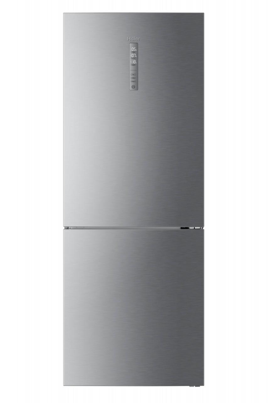 Haier C3FE844CGJ - Frigorifero con congelatore, Libera installazione, Acciaio inossidabile, 459 Litri, Classe D ( A+++)