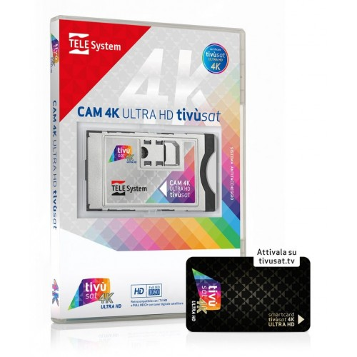 TELE System CAM tivùsat 4K Ultra HD...
