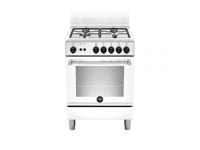 La Germania AMN664GBV - Cucina con Forno a Gas, Bianco, 60x60 cm, Classe A