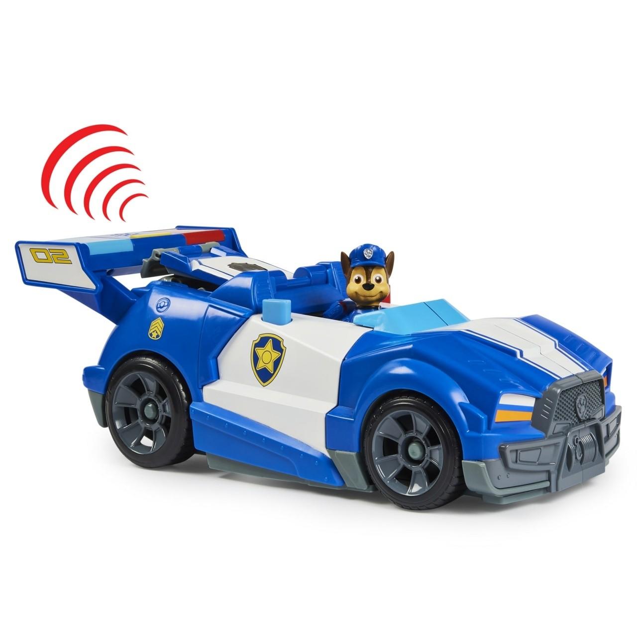 PAW Patrol , Auto della polizia City Cruiser di Chase 2 in 1 , auto della polizia con moto, luci e suoni e personaggio da