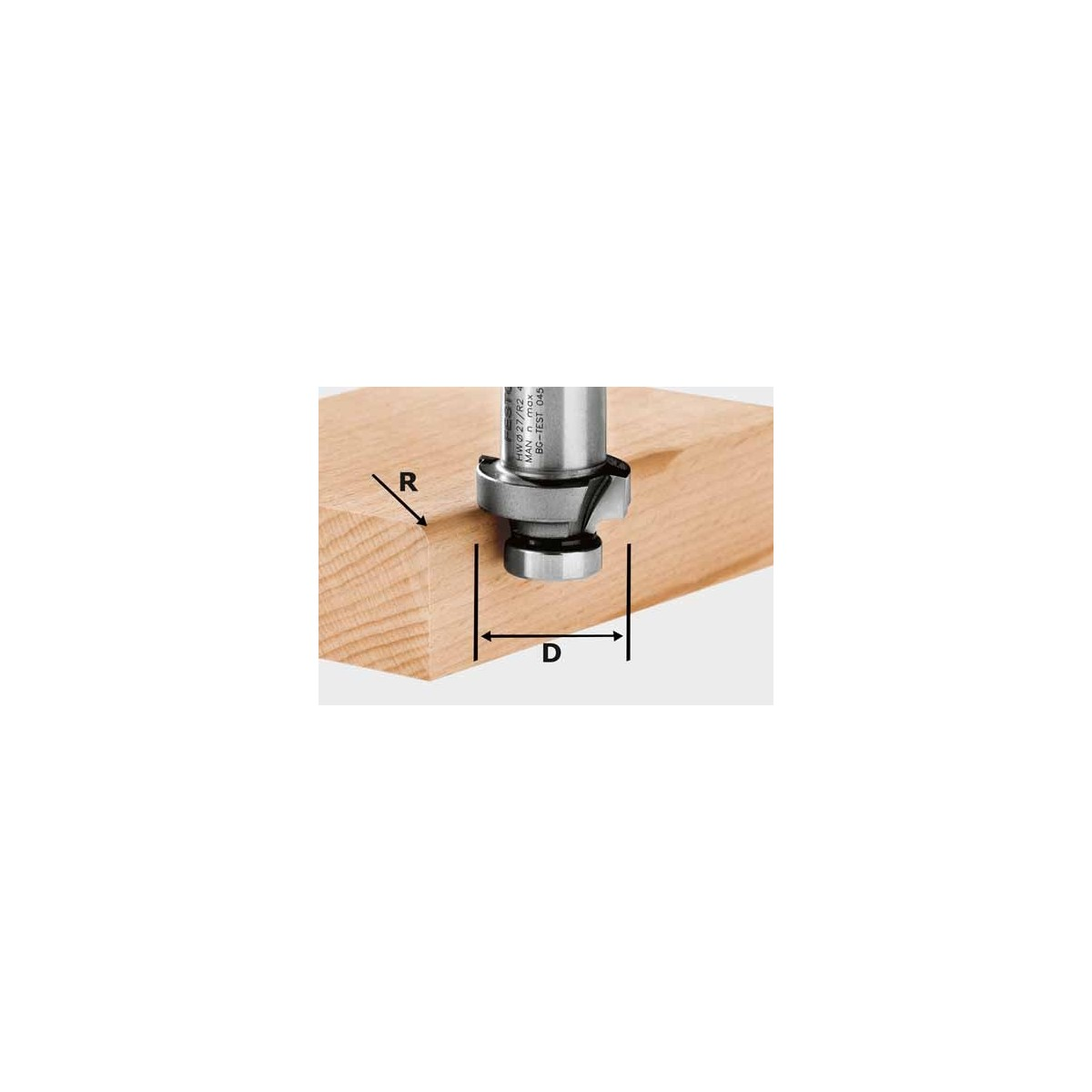 Fresa a raggio concavo HW HW R2-OFK 500 Festool 490092