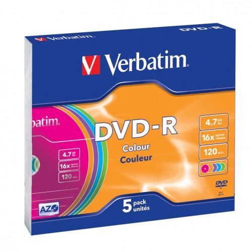 Verbatim DVD-R Colour 4,7 GB 5 pezzo(i)