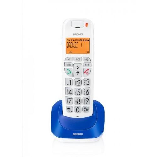Brondi Bravo Bright Telefono DECT Blu...