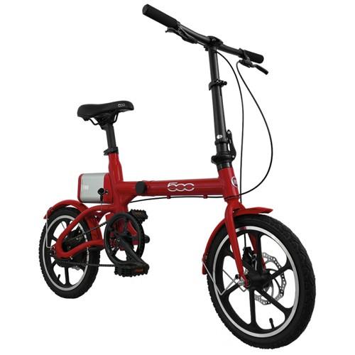 FIAT Fold Bicicletta Elettrica E-Bike F500 Rosso