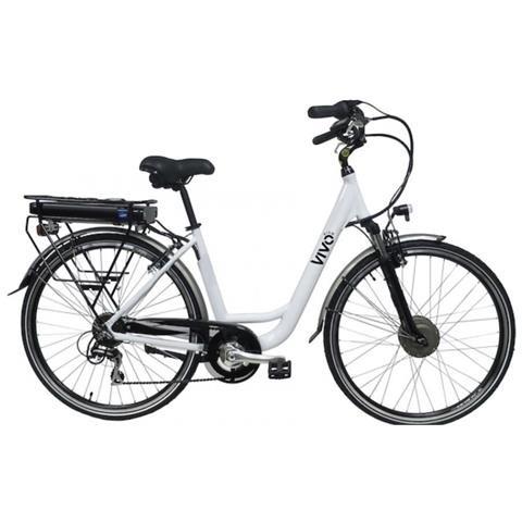 """VivoBike Bicicletta Elettrica City Bike M-VCITY28G Ruote da 28"""" Colore Bianco"""