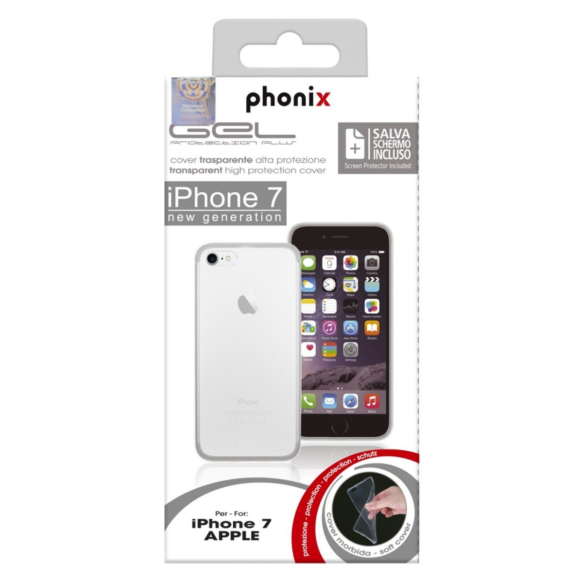 apple cover iphone 7 trasparente