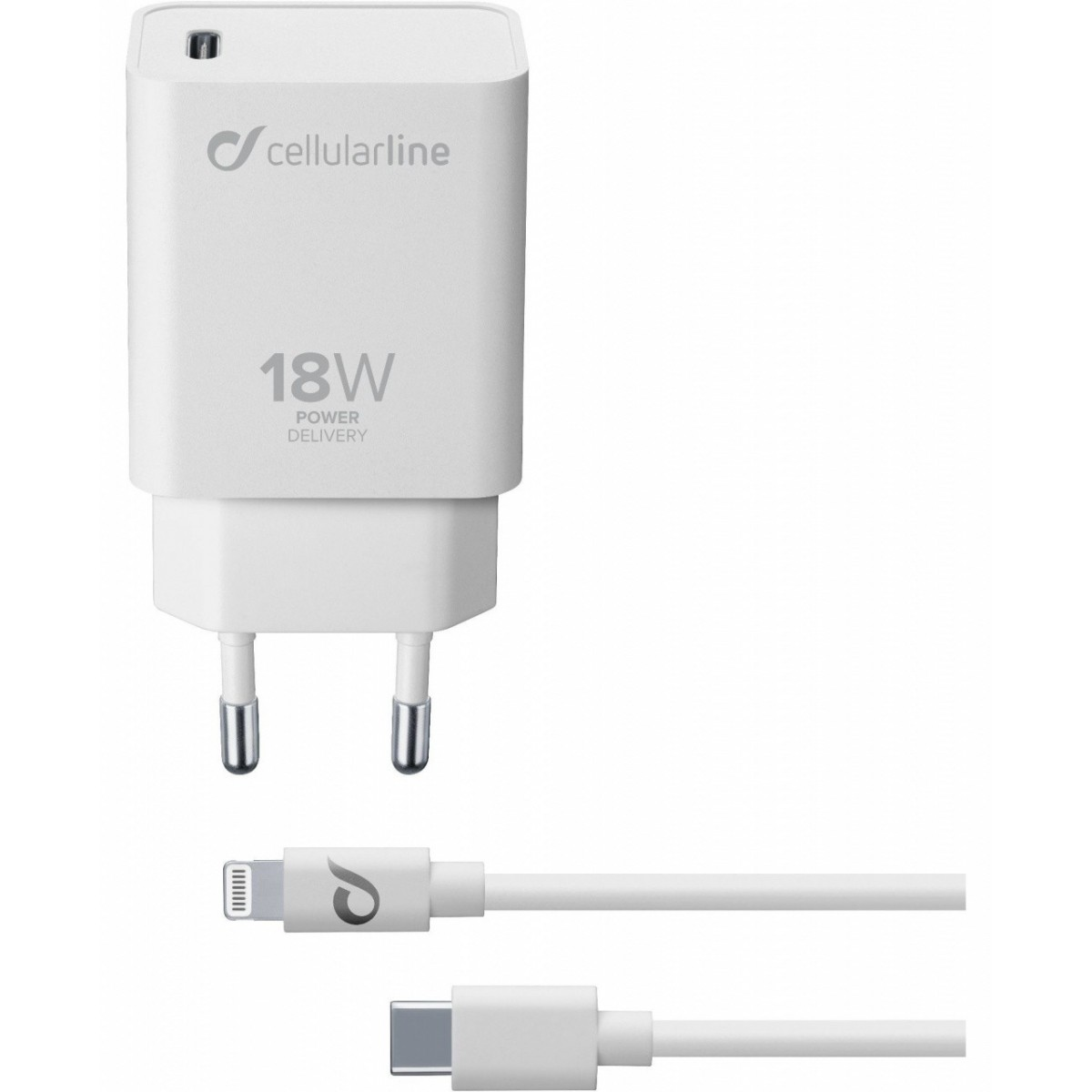 Cellularline USB C Charger KIT PD 18W IPHONE 8 O
