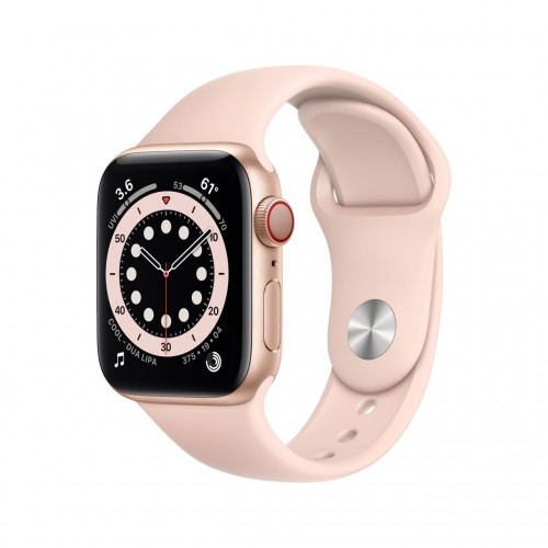 apple watch serie 6 gps cellular 40mm in alluminio oro con cinturino sport rosa sabbia