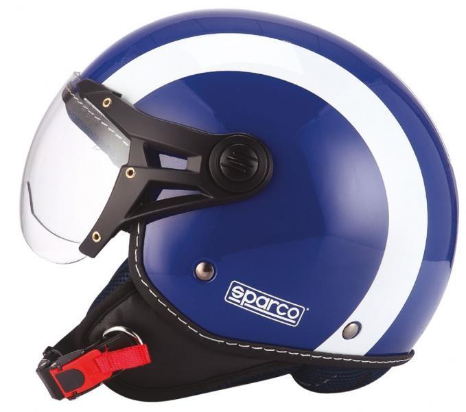 Image of 08966 SPARCO CASCO SP501 BLU XS