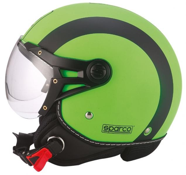 Image of 03107 SPARCO CASCO SP501 VERDE FLUO OPACO XS