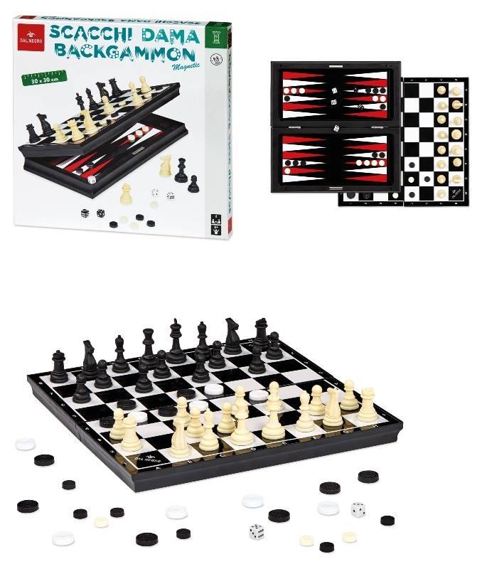 Dal Negro - Scacchi Dama Backgammon Magnetica 53972